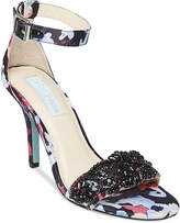 Blue By Betsey Johnson Gina Embellished Evening Sandals Women's Shoes