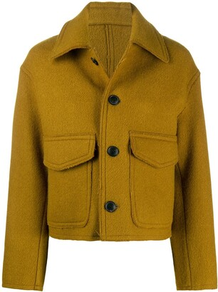 Ami Buttoned Boxy-Fit Jacket