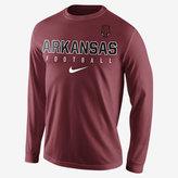 Nike College Practice Football (Arkansas) Men's Long Sleeve Top