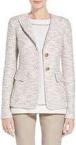 St. John Caillou Tweed Knit Revere Blazer