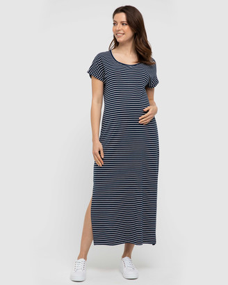Bamboo Body - Women's Navy Maxi dresses - Elsie Dress - Size One Size, XS at The Iconic