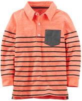 Carter's Long-Sleeve Striped Polo