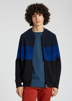 Thumbnail for your product : Paul Smith Men's Navy Stripe Compact-Cotton Zip Cardigan