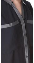 Helmut Lang Soft Shroud Button Blouse