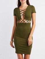 Charlotte Russe Lattice-Trim Bodycon Dress