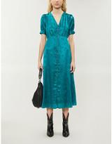 The Kooples V-neck jacquard-print woven midi dress