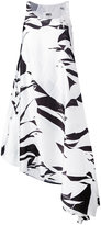 MM6 MAISON MARGIELA printed asymmetric hem dress - women - Polyester - 42