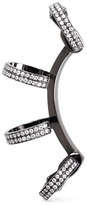 Repossi 'Berbère' diamond black gold 4-hoop ear cuff