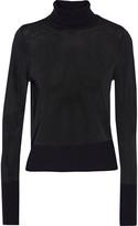 Rag & Bone Jodi wool-trimmed stretch-knit turtleneck sweater