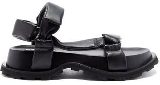 Jil Sander Padded Nappa-leather Flatform Sandals - Black