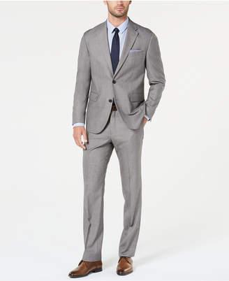 Dockers Men Modern-Fit Light Gray Sharkskin Suit