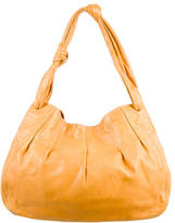 Miu Miu Leather Pleated Hobo