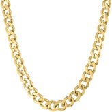 JCPenney FINE JEWELRY Mens Stainless Steel & Gold-Tone IP 22 12mm Chunky Curb Chain