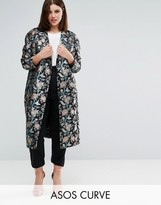 Asos Premium Slim Coat In Jacquard