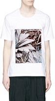 FFIXXED STUDIOS Floral patch poplin T-shirt