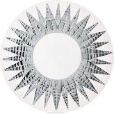 One Kings Lane Mosaic Round Mirror, White/Silver