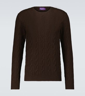 Ralph Lauren Purple Label Cashmere cable knitted sweater