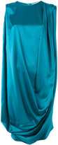 Gianluca Capannolo metallic draped dress - women - Polyester/Triacetate - 44
