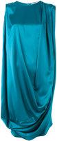 Gianluca Capannolo metallic draped dress - women - Triacetate/Polyester - 44