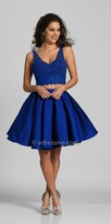 Dave and Johnny Caviar Beaded Two Piece Fit and Flare Homecoming Dress