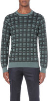 Brioni Checked Cashmere Silk-blend Jumper