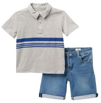 AG Jeans Polo Shirt & Shorts Set (Toddler Boys)