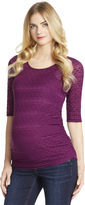 Motherhood Jessica Simpson Side Ruched Maternity Top