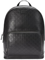Gucci Signature Leather Backpack, Black