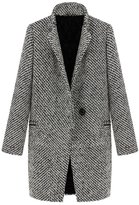 Buenos Ninos Women's Fashion Slim Fit Lapel Wool-Blend Trench Coat Outwear Jacket S