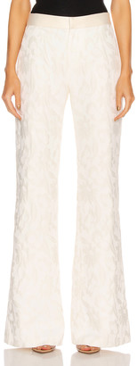 Alexis Bouras Pant in White Floral Jacquard | FWRD