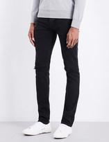 Sandro Distressed mid-rise slim-fit jeans
