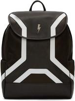 Neil Barrett Black Leather Backpack