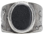 Maison Margiela Silver Large Oval Face Ring