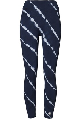 Tory Sport Tie-Dye Seamless 7/8 Ankle Leggings