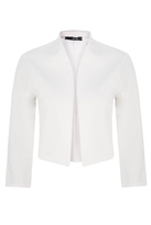 Quiz Cream Cropped 3/4 Sleeve Jacket
