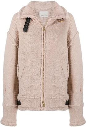 Laneus Aviator Zip-Up Knit Jacket