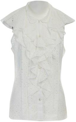 Oscar de la Renta White Cotton Top for Women