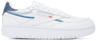 Reebok Classics White Denim Club C Double Sneakers