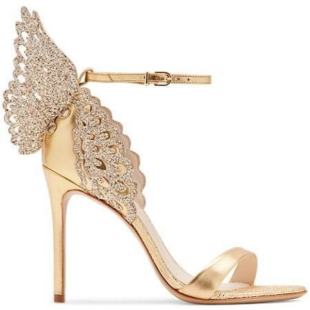 Sophia Webster Evangeline Glitter Metallic Leather Sandals