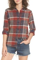 RVCA Women's Pops Cotton Plaid Shirt