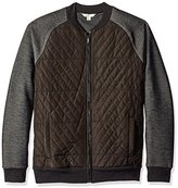 Calvin Klein Jeans Men's Nylon Quilted Full Zip Sweater