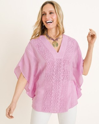 Chico's Chicos Embroidered Poncho