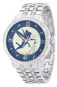 EWatchFactory Disney Tinker Bell Women's Silver Alloy Watch With Glitz