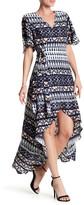 Jessica Simpson Amethyst Printed Hi-Lo Dress