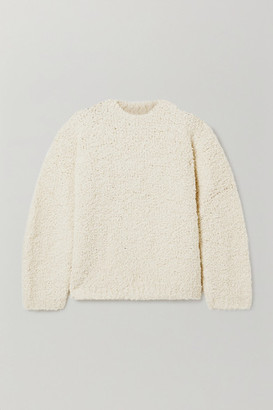 LAUREN MANOOGIAN Astrakhan Alpaca And Wool-blend Boucle Sweater - Cream