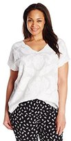 Lucky Brand Women's Plus-Size Mesh-Front Top