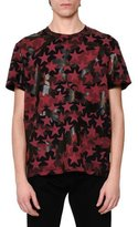 Valentino Camo & Star-Print T-Shirt, Red/Black