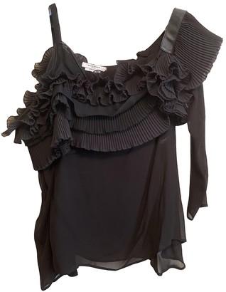 Givenchy Black Silk Tops