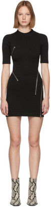 Alexander Wang Black Travelling Zip Rib Dress