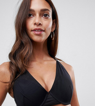Project Me Projectme Nursing Ambition mesh flexiwire plunge bra in black